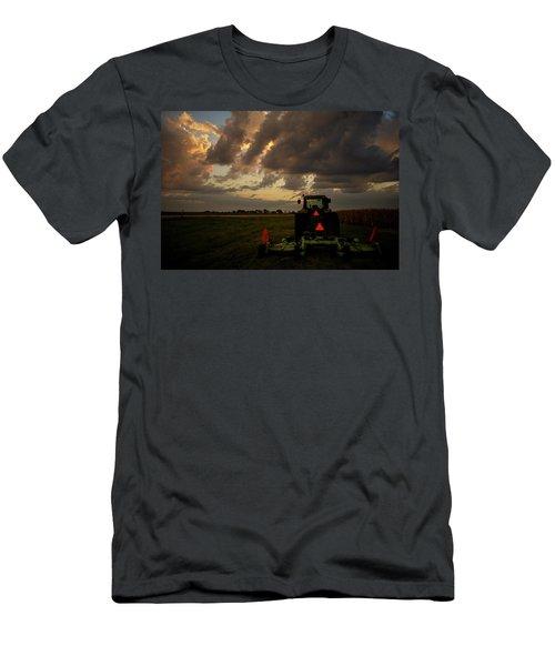 Tractor At Sunrise - Chester Nebraska Men's T-Shirt (Athletic Fit)