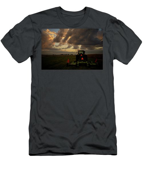 Tractor At Sunrise - Chester Nebraska Men's T-Shirt (Athletic Fit)