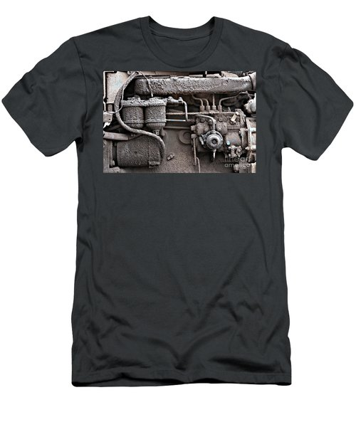 Men's T-Shirt (Slim Fit) featuring the photograph Tractor Engine II by Stephen Mitchell