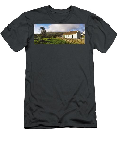 Traditional Cottage, Near Lough Rus Men's T-Shirt (Athletic Fit)