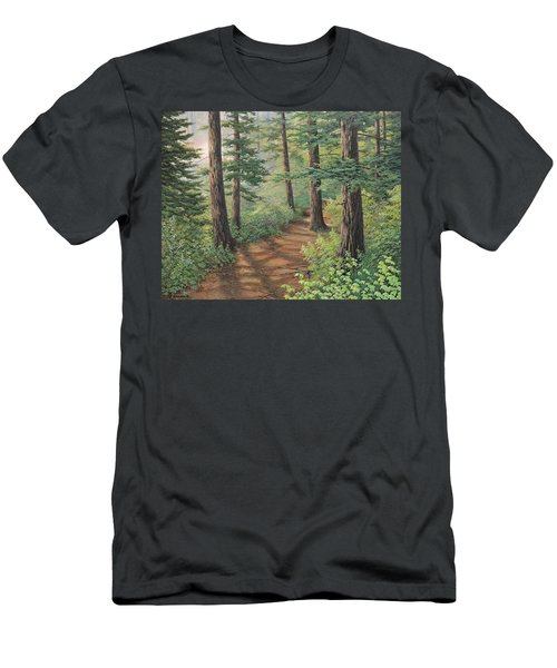 Trail Of Green Men's T-Shirt (Athletic Fit)
