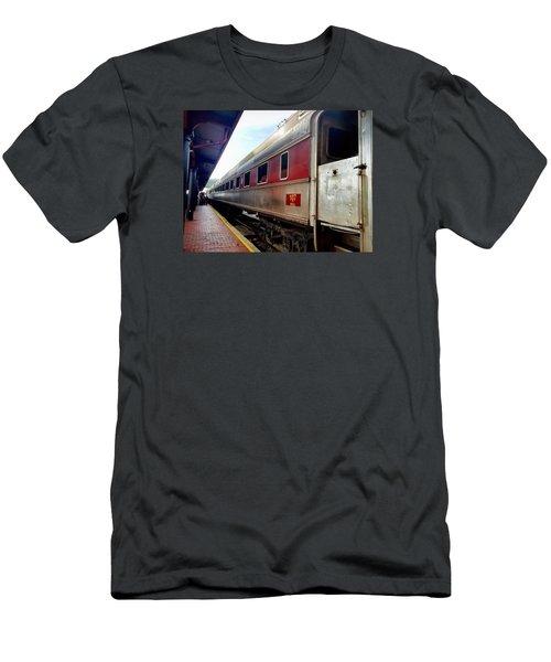Train Station Men's T-Shirt (Athletic Fit)