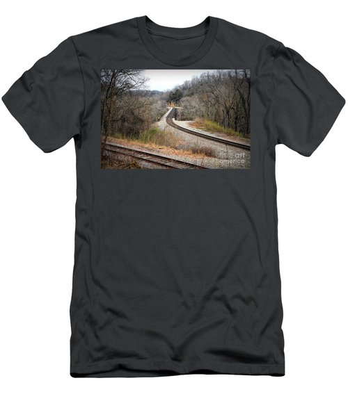 Train Tracks Across The New River - Radford Virginia Men's T-Shirt (Athletic Fit)
