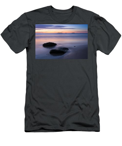 Tranquil Morning Singing Beach Men's T-Shirt (Athletic Fit)