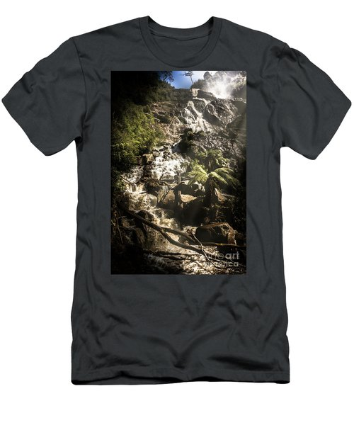 Tranquil Mountain Canyon Men's T-Shirt (Athletic Fit)