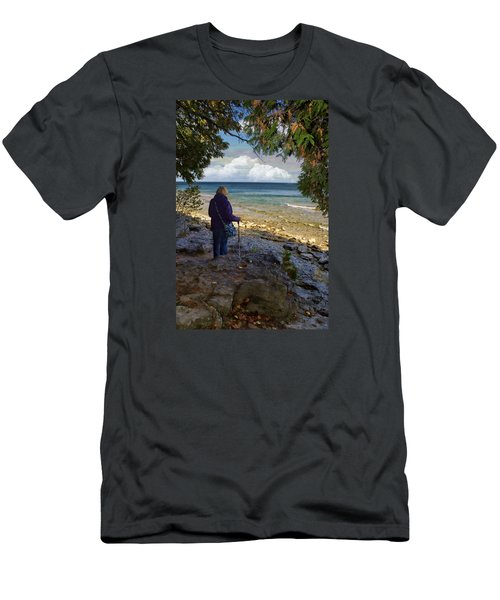 Men's T-Shirt (Slim Fit) featuring the photograph Tranquility by Judy Johnson