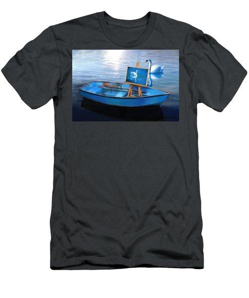 Tranquility Men's T-Shirt (Slim Fit) by Nanda Dixit