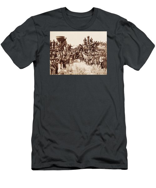 Transcontinental Railroad - Golden Spike Ceremony Men's T-Shirt (Athletic Fit)