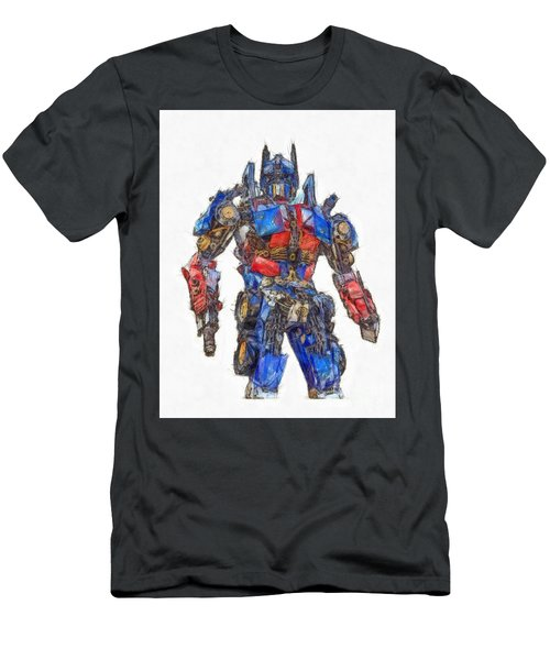 Transformers Optimus Prime Or Orion Pax Colored Pencil Men's T-Shirt (Athletic Fit)