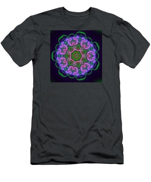 Transition Flower 7 Beats Men's T-Shirt (Slim Fit) by Robert Thalmeier