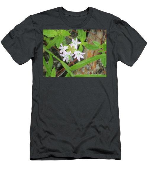 Transparent Flowers Men's T-Shirt (Athletic Fit)