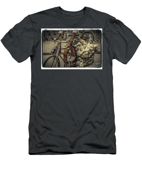 Men's T-Shirt (Slim Fit) featuring the photograph Transport By Bicycle In China by Heiko Koehrer-Wagner