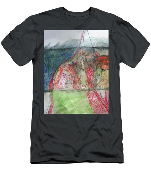 Travelers On The Train Men's T-Shirt (Athletic Fit)