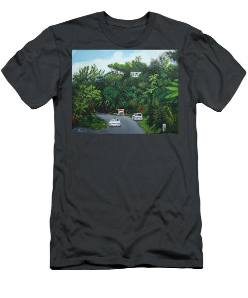 Traveling In Adjuntas Mountains Men's T-Shirt (Slim Fit) by Luis F Rodriguez