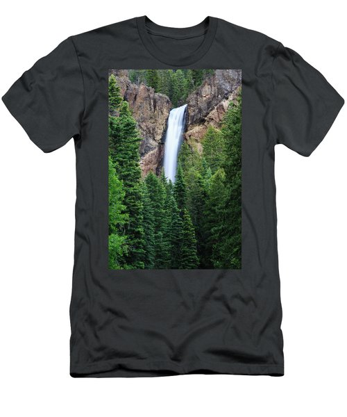Men's T-Shirt (Slim Fit) featuring the photograph Treasure Falls by David Chandler