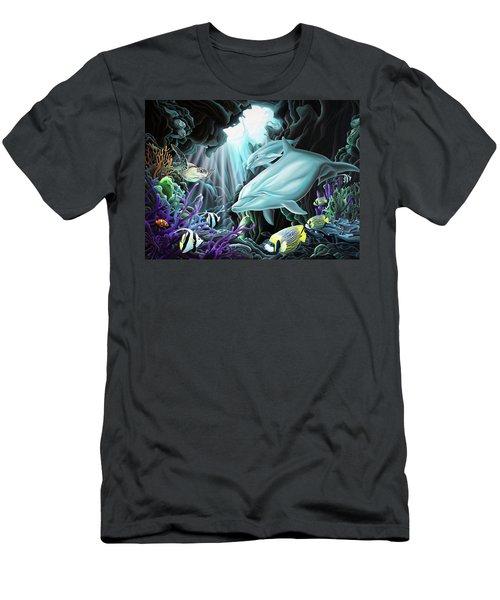 Treasure Hunter Men's T-Shirt (Slim Fit) by William Love