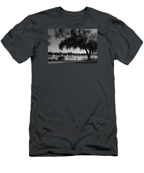 Tree At The Water Men's T-Shirt (Athletic Fit)