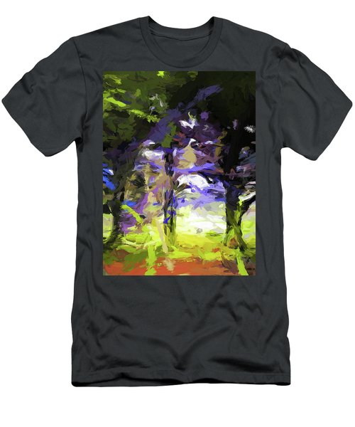Tree Avenue Lavender Lilac Green Men's T-Shirt (Athletic Fit)