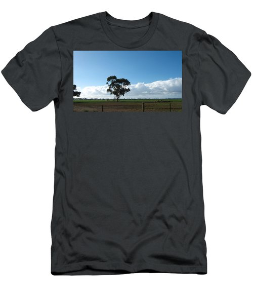 Tree In Field Men's T-Shirt (Athletic Fit)
