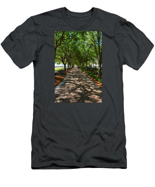 Tree Lined Path Men's T-Shirt (Slim Fit) by Debra Martz