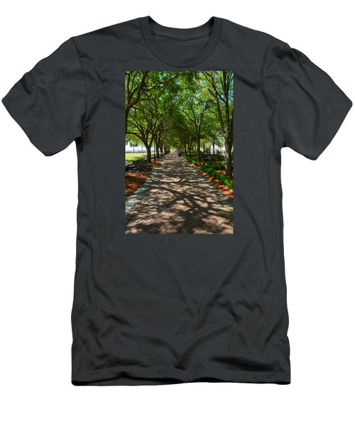 Tree Lined Path Men's T-Shirt (Athletic Fit)