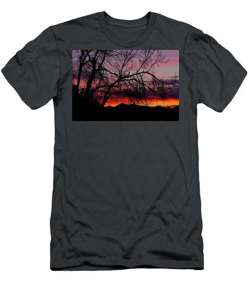 Tree Silhouette Men's T-Shirt (Slim Fit) by Paul Marto