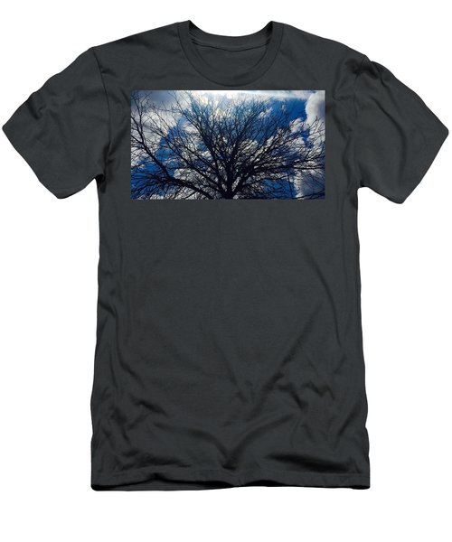 Tree Sun And Blue Sky Men's T-Shirt (Athletic Fit)
