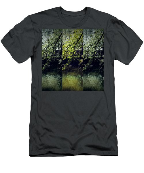 Tree Triptych Men's T-Shirt (Slim Fit) by Michele Carter