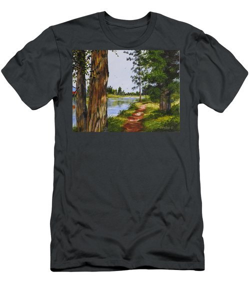 Trees Along The River Men's T-Shirt (Athletic Fit)