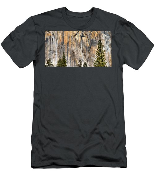 Trees And Granite Men's T-Shirt (Slim Fit) by Josephine Buschman