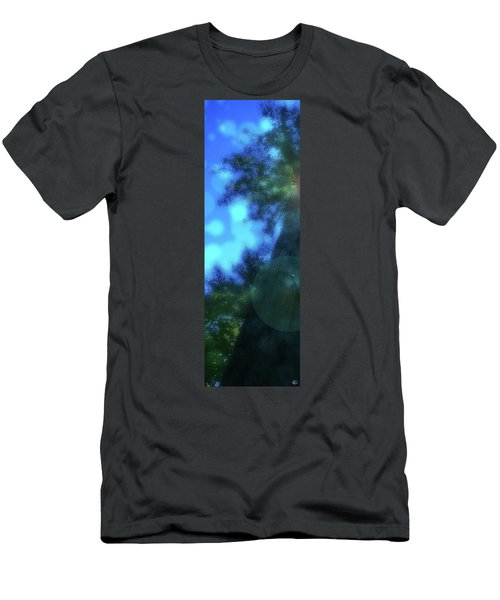 Trees Left Men's T-Shirt (Slim Fit) by Kenneth Armand Johnson