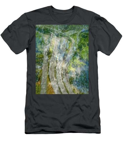 Trees Over Highway Men's T-Shirt (Athletic Fit)