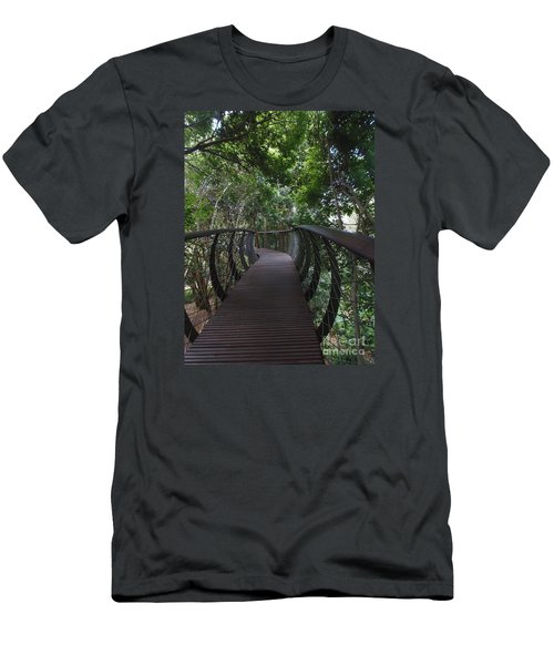 Treetop Canopy Walk Men's T-Shirt (Slim Fit) by Bev Conover