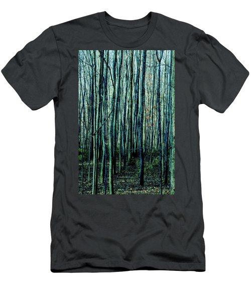 Treez Cyan Men's T-Shirt (Athletic Fit)