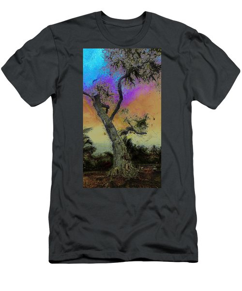 Men's T-Shirt (Slim Fit) featuring the photograph Trembling Tree by Lori Seaman