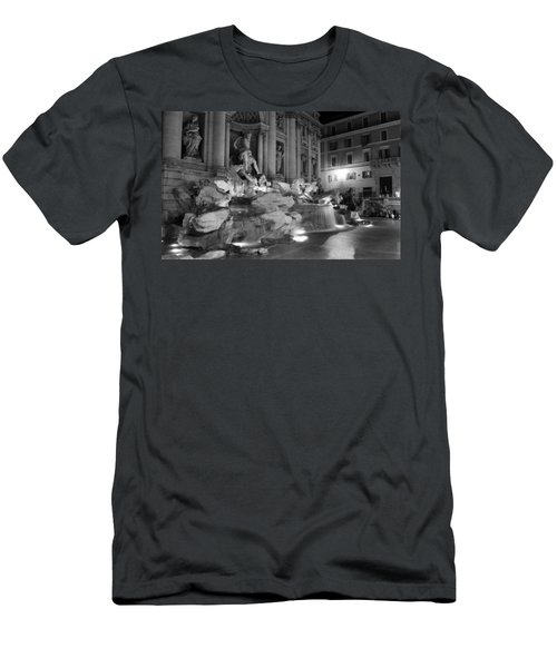 Trevi Fountain Night 2 Men's T-Shirt (Athletic Fit)