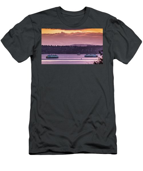 Triangle Ferry Run Men's T-Shirt (Athletic Fit)