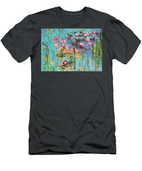 Tribute To Monet II Men's T-Shirt (Slim Fit) by Holly Martinson