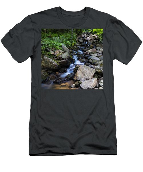 Trickling Mountain Brook Men's T-Shirt (Athletic Fit)