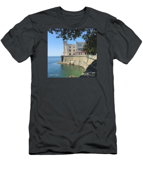 Trieste- Miramare Castle Men's T-Shirt (Athletic Fit)