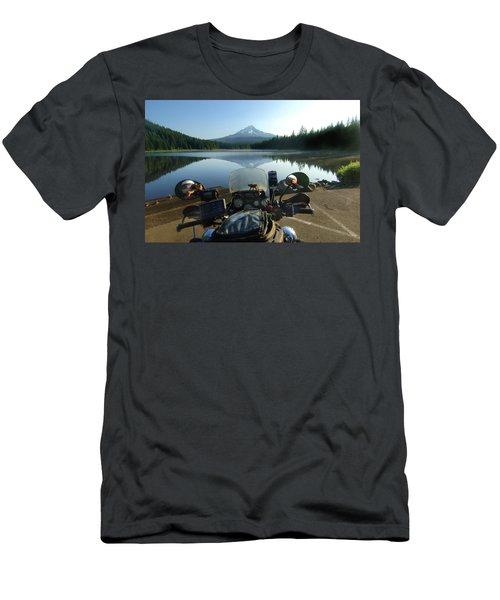 Trillium Lake With Mount Hood Men's T-Shirt (Athletic Fit)