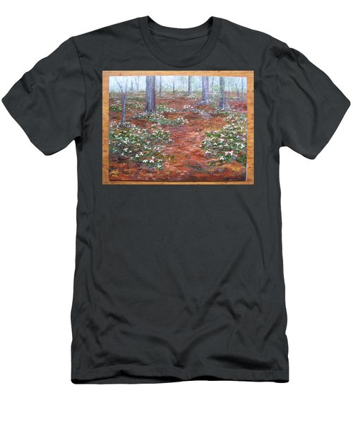 Trilliums After The Rain Men's T-Shirt (Athletic Fit)