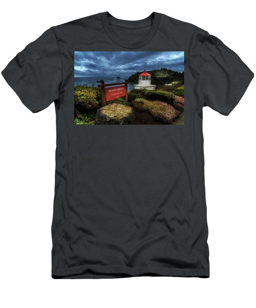 Trinidad Memorial Lighthouse Men's T-Shirt (Slim Fit) by James Eddy
