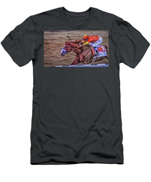Triple Crown Winner Justify Men's T-Shirt (Athletic Fit)