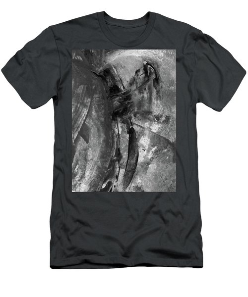 Trojan Horse - Black And White Vertical Painting Men's T-Shirt (Athletic Fit)