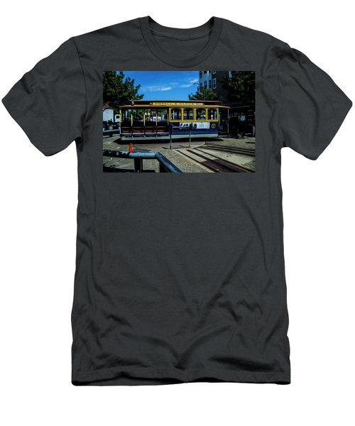 Trolley Car Turn Around Men's T-Shirt (Athletic Fit)
