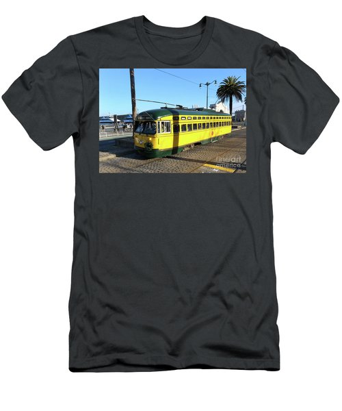 Men's T-Shirt (Slim Fit) featuring the photograph Trolley Number 1071 by Steven Spak