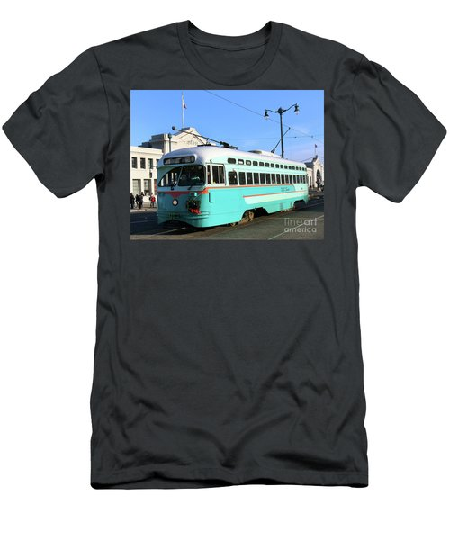 Men's T-Shirt (Slim Fit) featuring the photograph Trolley Number 1076 by Steven Spak