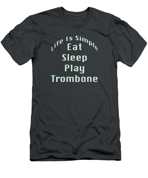 Trombone Eat Sleep Play Trombone 5518.02 Men's T-Shirt (Slim Fit) by M K  Miller