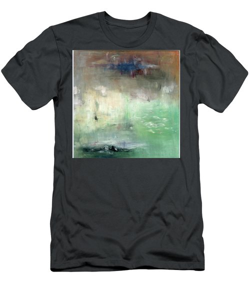 Men's T-Shirt (Slim Fit) featuring the painting Tropic Waters by Michal Mitak Mahgerefteh